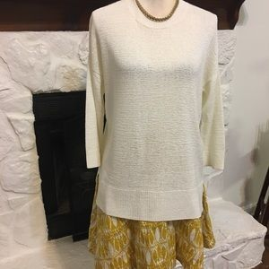 THEORY OFF WHITE HESTERLY SWEATER NWOT SIZE S